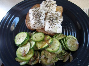 Thyme Bakes Halibut