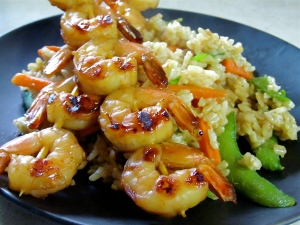 Shrimp with Vegetable Fried Rice