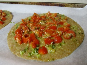 Add Tomatoes to Tortillas