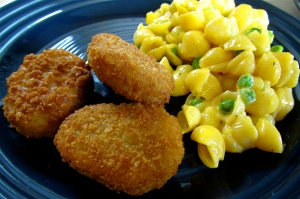 Chikn Nuggets with Mac and Cheese