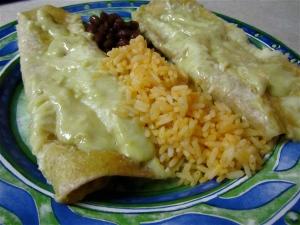 Spinach Mushroom Enchilada dinner