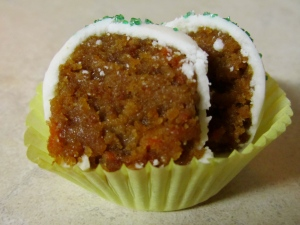 Cut Carrot Cake Ball