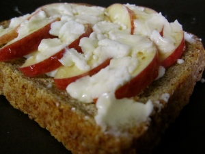 Apple and Goat Cheese Toast