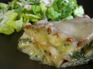 Pork Spinach Alfredo Lasagna