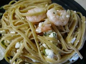 Shrimp Linguini with Feta and Dill