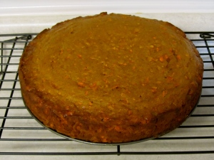 Cooling Carrot Cake