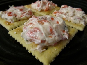 Salmon Spread on cracker